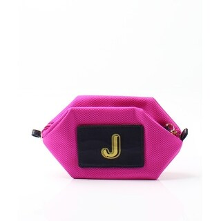 "Boulevard NEW Bright Pink Monogram ""J"" Nylon Bubble Pouch Cosmetic Clutch"