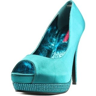 Bordello Bella 12 Women Peep-Toe Canvas Blue Mary Janes
