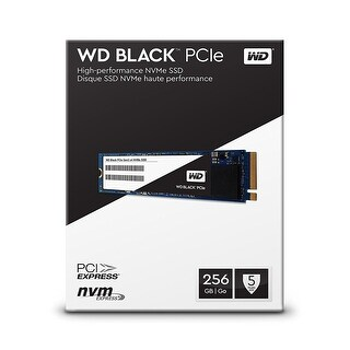 WD Black 256GB Performance SSD - 8 Gb/s M.2 PCIe NVMe Solid State Drive WDS256G1X0C