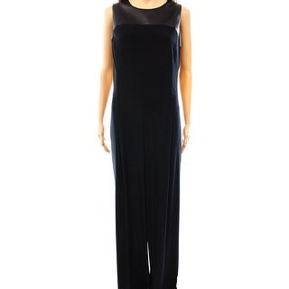 Lauren Ralph Lauren NEW Black Women's Size 4 Wide Leg Jersey Jumpsuit