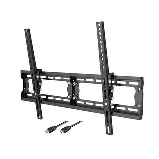 Loctek Super Slim 10° Tilt TV Wall Mount Bracket, 165 lbs Loading Capacity, Max VESA 600 x 400, for 32-65 inch TVs