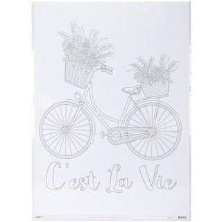 """Kaisercolour Coloring Poster 27""""X19""""-Cest La Vie"""