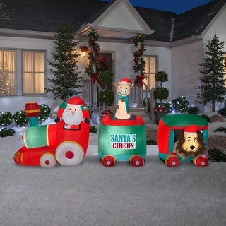 Link to Airblown-Mixed Media-Santa in Circus Train-Giant Similar Items in Christmas Decorations