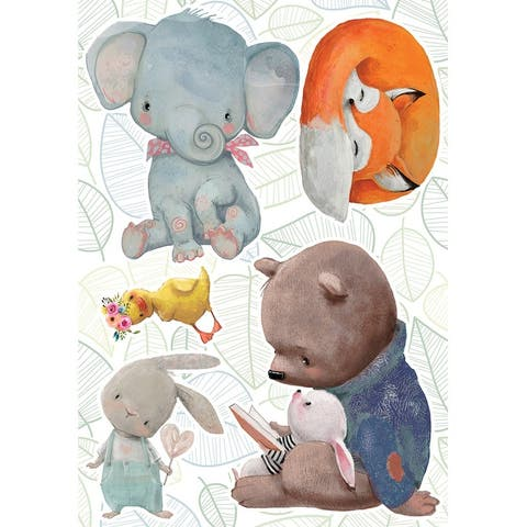 Watercolor Animals Wall Stickers