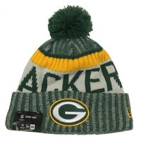 New Era Green Bay Packers Knit Beanie Cap Hat NFL On Field Sideline 11460398 cc0b33ac7