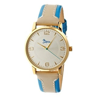 Boum Contraire Women's Quartz Watch, Genuine Leather Band