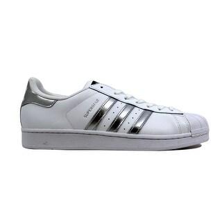 Adidas Women's Superstar White/Metallic Silver-Black AQ3091