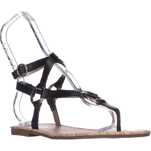 Circus by Sam Edelman Bree Flat Gladiator Sandals, Black