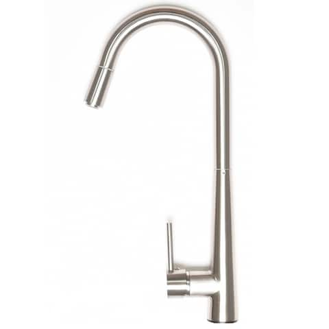 Zenvida Modern Single Handle High Arc Pull Down Lead Free Brushed Nickel Kitchen Faucet