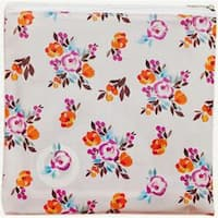 "Painted Floral - Freckled Fawn Printed Clear Plastic Zippered Pouch 8""X8"""
