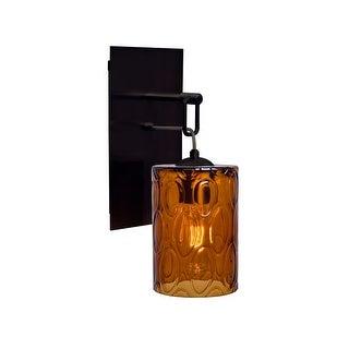 Besa Lighting 1WP-CRUSAM Cruise Single Light Wall Sconce with Amber Glass Shade