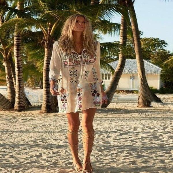5d8e21953fad0 Shop Boho Inspired Embroidered Women Dress Long Sleeve Yackalasi O ...