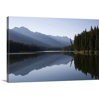 """Johnson Lake, Banff, Alberta, Canada"" Canvas Wall Art"