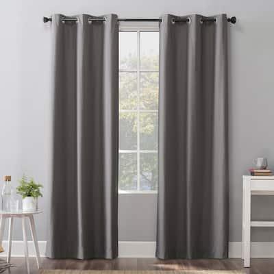 Sun Zero Cyrus Thermal Total Blackout Grommet Curtain Panel, Single Panel