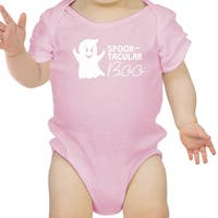 Spook-Tacular Boo Baby Girl 1st Halloween Bodysuit Pink Infant Shirt