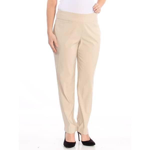 CHARTER CLUB Womens Beige Wear To Work Pants Plus Size: 18W