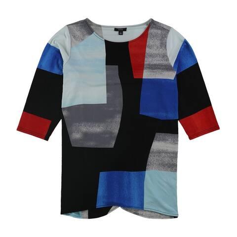 Alfani Womens Printed Tunic Blouse