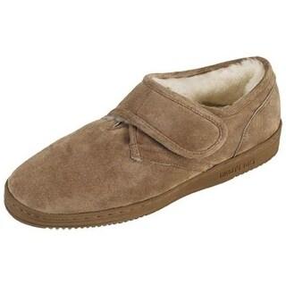 Old Friend Slippers Mens Sheepskin Scuff Extra Wide Chestnut 421217