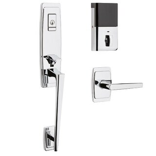Baldwin 85396.BLENT Evolved Palm Springs Left Handed Single Cylinder One-Piece Handleset with L024 Interior Lever and Bluetooth