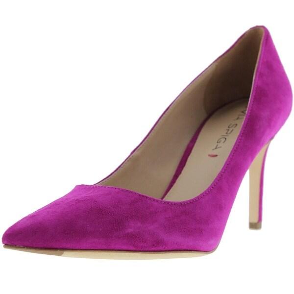 Via Spiga Womens Carola Pointed Toe Heels Textured