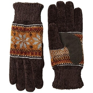 Isotoner Womens Chenille Suede Winter Gloves - o/s