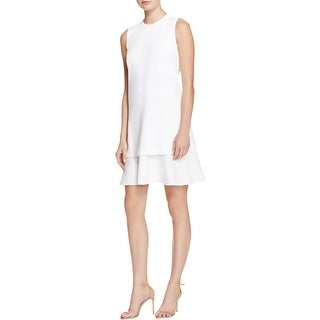Theory Womens Malkan Wear to Work Dress Crepe Layered