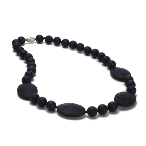 Chewbeads Perry Teething Necklace - Black Perry Teething Necklace