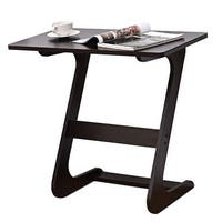 Costway Sofa Table End Side Table Console Snack TV Coffee Tray PC Laptop Desk Z-Shape - Brown