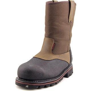 """Wolverine Drillbit 10"""" Men Round Toe Leather Brown Work Boot"""