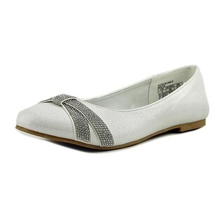Kenneth Cole Reaction Vote Bling 2 Youth Round Toe Canvas White Loafer