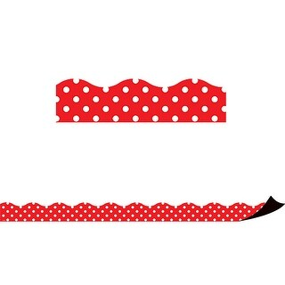Red Polka Dots Magnetic Border