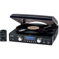 3-Speed Turntable Mp3 Encoding System Am-Fm Radio