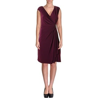 American Living Womens Draped Brooch Cocktail Dress