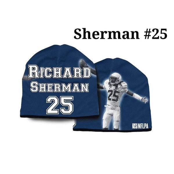 sports shoes 341b0 d6e4a Seattle Seahawks Richard Sherman Beanie - Lightweight