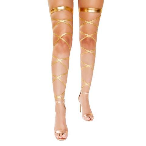 Gold Metallic Leg Wraps - One Size Fits Most