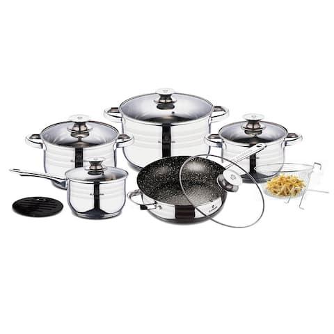 Blaumann 13-Piece Stainless Steel Cookware Set