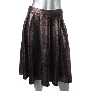 Lucy Paris Womens A-Line Skirt Shimmer Pleated - S https://ak1.ostkcdn.com/images/products/is/images/direct/b775dcf010436b2efaf089e982f09cc6da57b1fe/Lucy-Paris-Womens-Shimmer-Pleated-A-Line-Skirt.jpg?impolicy=medium