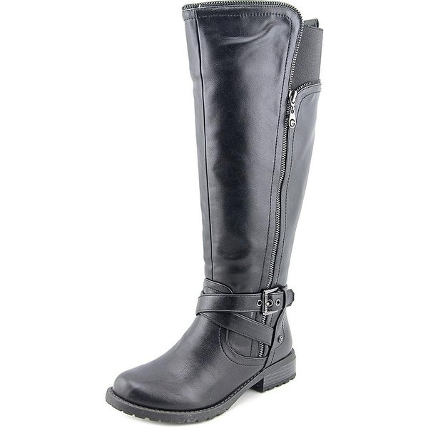 GUESS Womens Halsey Wide Calf Closed Toe Knee High Fashion Boots