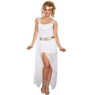 Dreamgirl It's Greek To Me Adult Costume - White/Gold