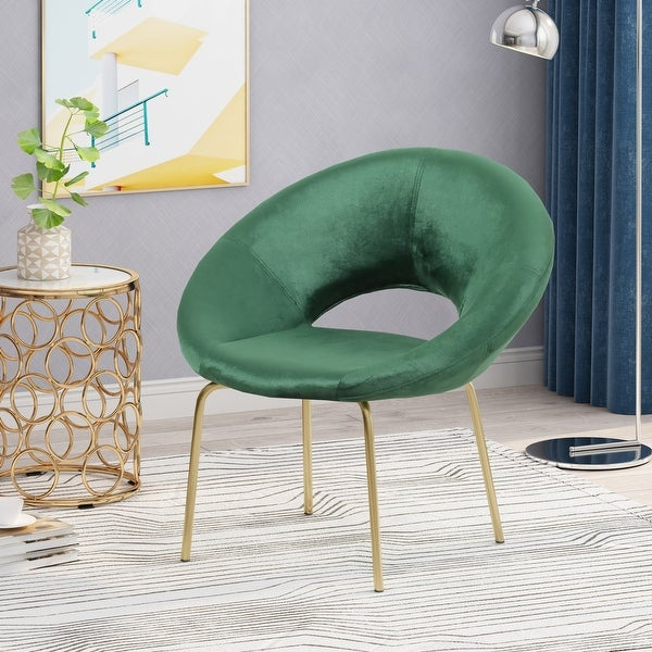 """Pincay Modern Glam Velvet Accent Chair by Christopher Knight Home - 29.50"""" W x 25.25"""" L x 30.50"""" H. Opens flyout."""