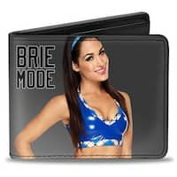 Brie Bella Vivid Pose Brie Mode + Autograph Gray Black Bi Fold Wallet - One Size Fits most