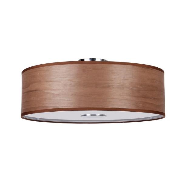 shop modern 4 light wood flush mount ceiling light free shipping