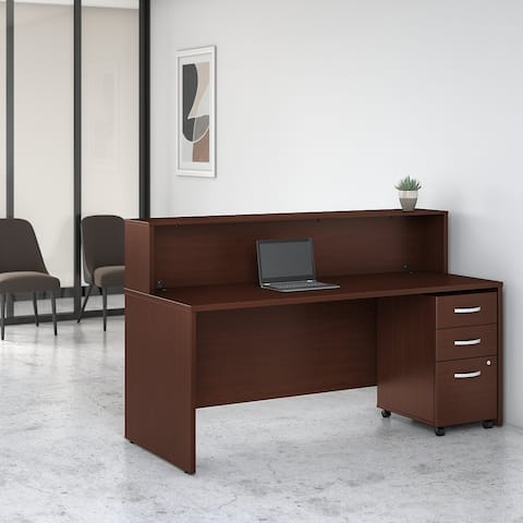 Studio C 72W Reception Desk with Drawers by Bush Business Furniture