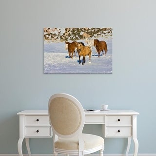 Easy Art Prints Terry Eggers's 'Wyoming Horses in Snow' Premium Canvas Art