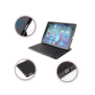 Broadcom 3.0 Slim 7-Color Backlight Backlit Bluetooth Keyboard Protective Cover Case for iPad Air