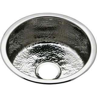 "Elkay SCF16FB The Mystic 16-3/8"" Single Basin 18-Gauge Stainless Steel Kitchen Sink for Drop In or Undermount Installations with"