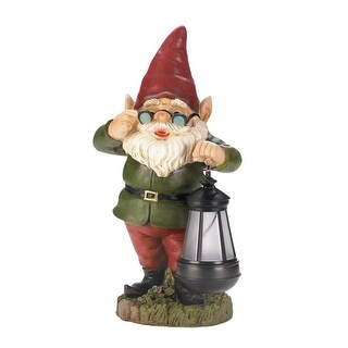 Hot Selling Solar Lantern Keeper Gnome Statue