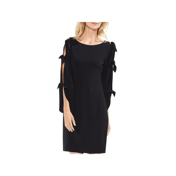 Vince Camuto Womens Party Dress Crepe Tie Sleeves