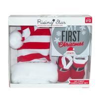Rising Star Baby's First Christmas Santa Hat and Sock Set