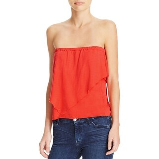 Nation LTD Womens Mikah Tube Top Asymmetric Tiered